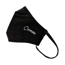 Oxypura Air Purifying Face Masks Black - Re-Usable 4 Layer Activated Carbon Filtration