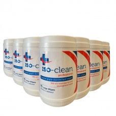 ISO-CLEAN SANITISING WIPES PACK OF 75 - CARTON  12 TUBS
